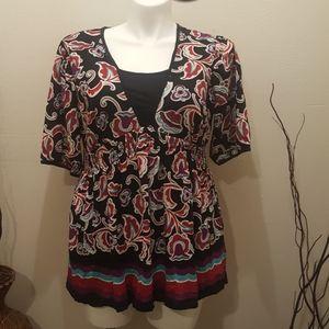 Style&co,Plus Size Top colorful  Blouse 1Xl